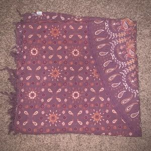 Urban outfitters purple orange and white tapestry